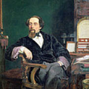 Portrait Of Charles Dickens Art Print