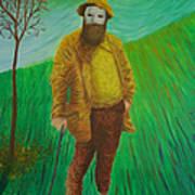 Portrait Of Claude Monet Art Print