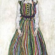 Portrait Of Edith Schiele, The Artists Art Print