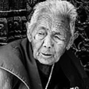 Portrait Of Elderly Woman Art Print