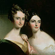 Portrait Of Ellen And Mary Mcilvaine, 1834 Oil On Canvas Art Print