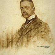 Portrait Of Emile Bertaux Art Print
