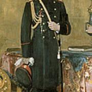 Portrait Of Emperor Nicholas II 1868-1918 1895 Oil On Canvas Art Print