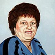 Portrait Of Essie Simon  Art Print