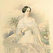 Portrait Of Grand Duchess Olga Nikolaevna Art Print by Vladimir Ivanovich Hau