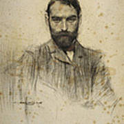 Portrait Of Gustave Violet Art Print