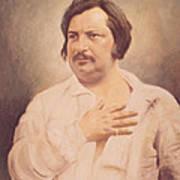 Portrait Of Honore De Balzac Art Print