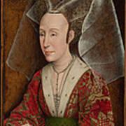 Portrait Of Isabella Of Portugal  Art Print by Workshop of Rogier van der Weyden