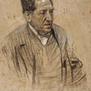 Portrait Of Iscle Soler Art Print
