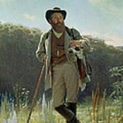 Portrait Of Ivan Ivanovich Shishkin Art Print