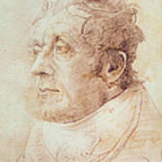 Portrait Of Jmw Turner Art Print by Cornelius Varley