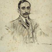 Portrait Of Joan Ventosa Art Print
