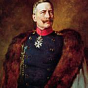 Portrait Of Kaiser Wilhelm II 1859-1941 Art Print