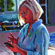 Portrait Of Kelly Art Print by Douglas Simonson