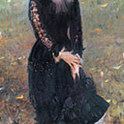 Portrait Of Madame Edouard Pailleron Art Print