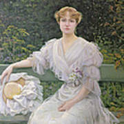 Portrait Of Marguerite Durand Art Print