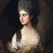 Portrait Of Miss Elizabeth Linley  Later Mrs Richard Brinsley Sheridan Art Print