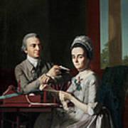 Portrait Of Mr And Mrs Thomas Mifflin Art Print