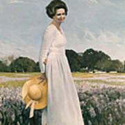 Portrait Of Mrs Lyndon B Johnson Art Print by Mountain Dreams