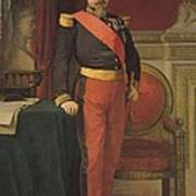 Portrait Of Napoleon IIi 1808-73 1862 Oil On Canvas Art Print
