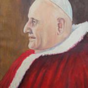 Portrait Of Pope John Xxiii - Papa Giovanni Xxiii Art Print by Mario Zampedroni