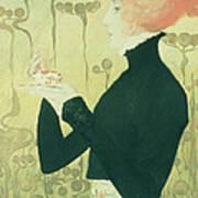 Portrait Of Sarah Bernhardt Art Print by Manuel Orazi