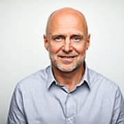 Portrait of senior businessman smiling Art Print