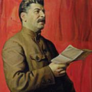 Portrait Of Stalin Art Print