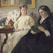 Portrait Of The Artist S Mother And Sister Art Print