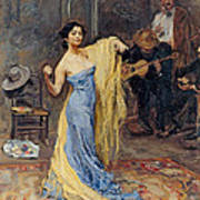 Portrait Of The Dancer Anna Pawlowa Art Print