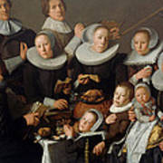 Portrait Of The Painter Andries Van Bochoven And His Family Art Print