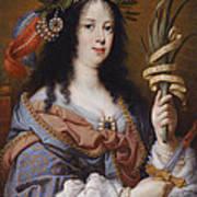 Portrait Of Vittoria Della Rovere As Saint Vittoria Art Print