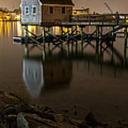 Portsmouth Harbor Night 1 Art Print