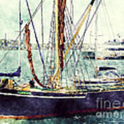 Portsmouth Harbour Boats Art Print