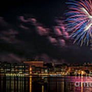 Portsmouth Nh Fireworks 2013 Art Print by Scott Thorp