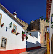 Portugal, Obidos, Street Of The Old Art Print