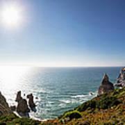 Portugal, View Of Praia Da Ursa Art Print