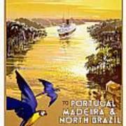 Portugal Vintage Travel Poster Art Print