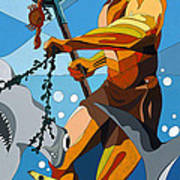 Poseidon - W/hidden Pictures Art Print