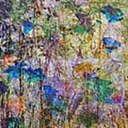 Posies In The Grass Art Print