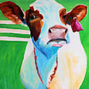Posing Cow Art Print