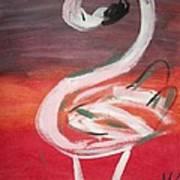 Posing Flamingo Art Print
