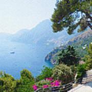 Positano Italy Amalfi Coast Delight Art Print