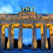 Post-it Art Berlin Brandenburg Gate Art Print