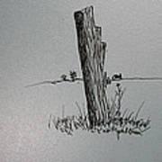 Post Line Art Print