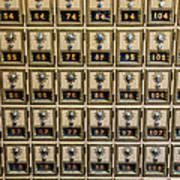 Post Office Combination Lock Boxes Art Print