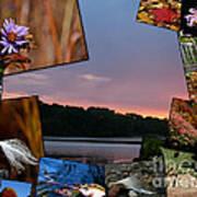 Postcard Autumn Memories Art Print