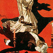 Poster Advertising A Performance Of Tosca Art Print