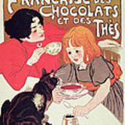 Poster Advertising The Compagnie Francaise Des Chocolats Et Des Thes Art Print