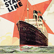 Poster Advertising The Red Star Line Art Print